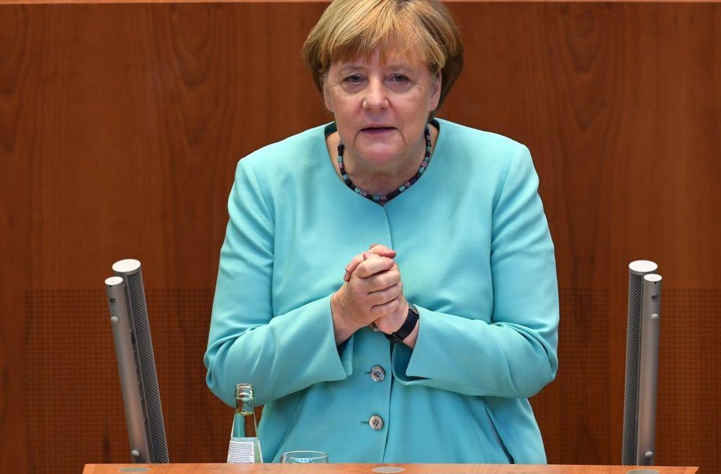 Merkel appelliert an die Deutschen, gegen Rechtspopulisten aufzustehen. Foto: dpa