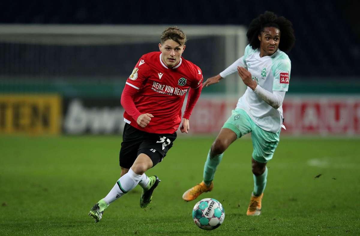 Hannover 96 unterlag im DFB-Pokale gegen Werder Bremen. Foto: dpa/Ronny Hartmann