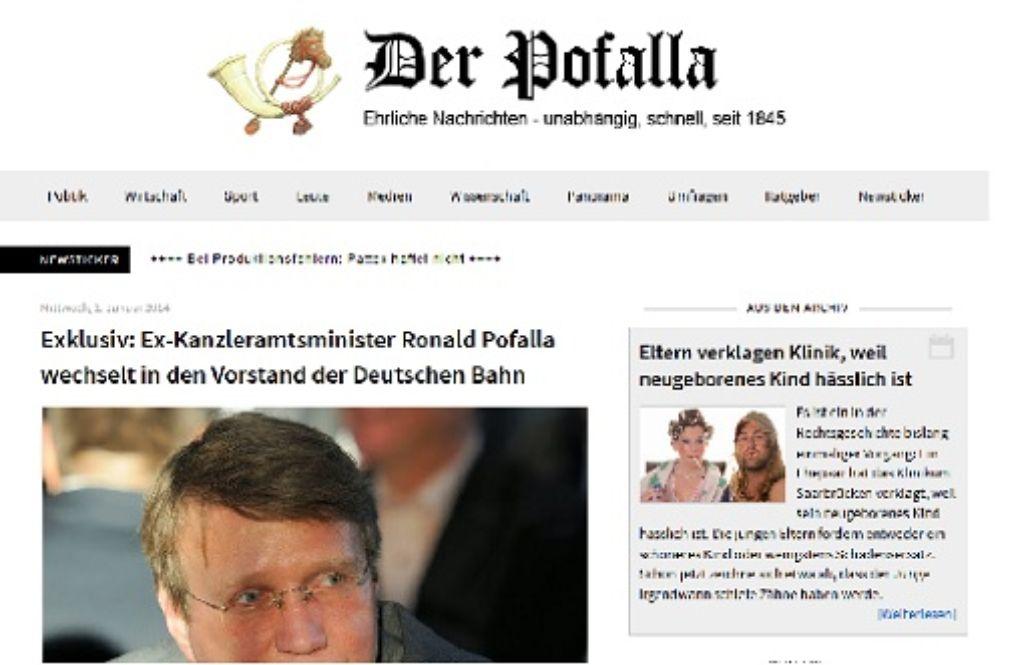 Mit einer vordatierten Meldung hat die Satire-Website Der Postillon die Netzgemeinde genarrt. Foto: StZ/Screenshot