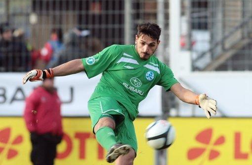 Günay Güvenc überzeugt als Torwart auch fußballerisch. Foto: Baumann