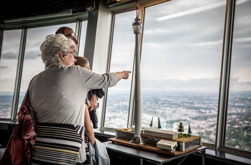 Wie es auf der Baustelle des Fernsehturms aussah