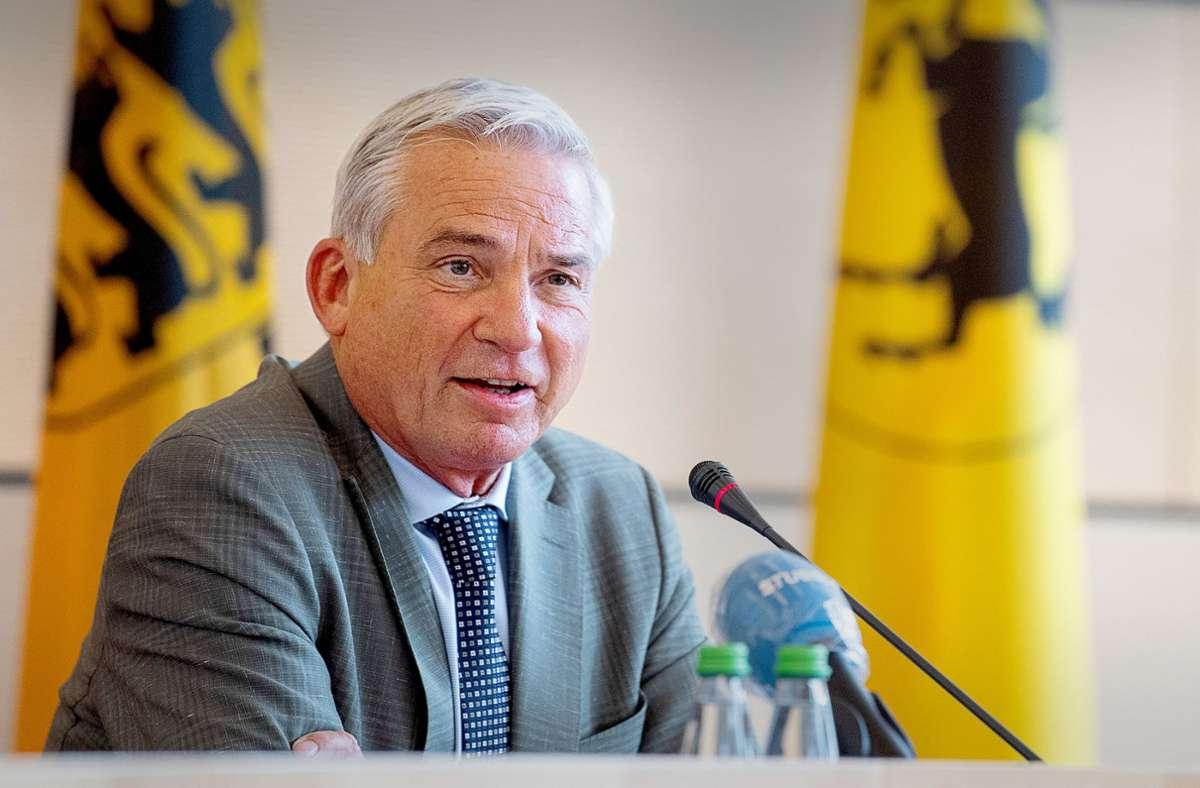 Thomas Strobl, der Vorsitzende der Südwest-CDU, verteidigt den  Sonderstatus des Sonntags. Foto: dpa/Sebastian Gollnow