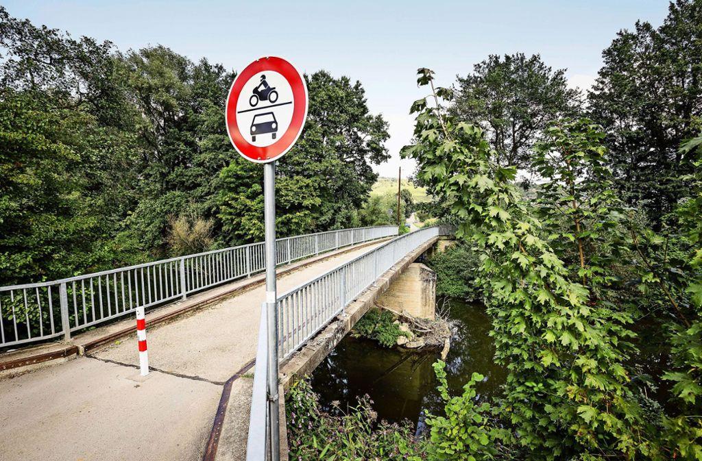 Fast eine halbe Million gibt das Land für die neue Hebsacker Brücke. Foto: /Jan Potente