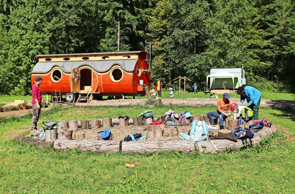 Die Naturkinder Flacht betreiben unter anderem in Heimsheim einen Waldkindergarten. Foto: Gorr/Archiv