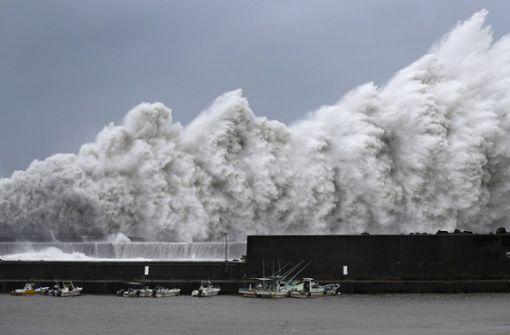 """""""Jebi"""" ist der stärkste Taifun seit 25 Jahren"""