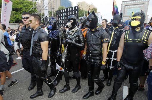 So ausgefallen demonstrieren Homosexuelle in Taipeh