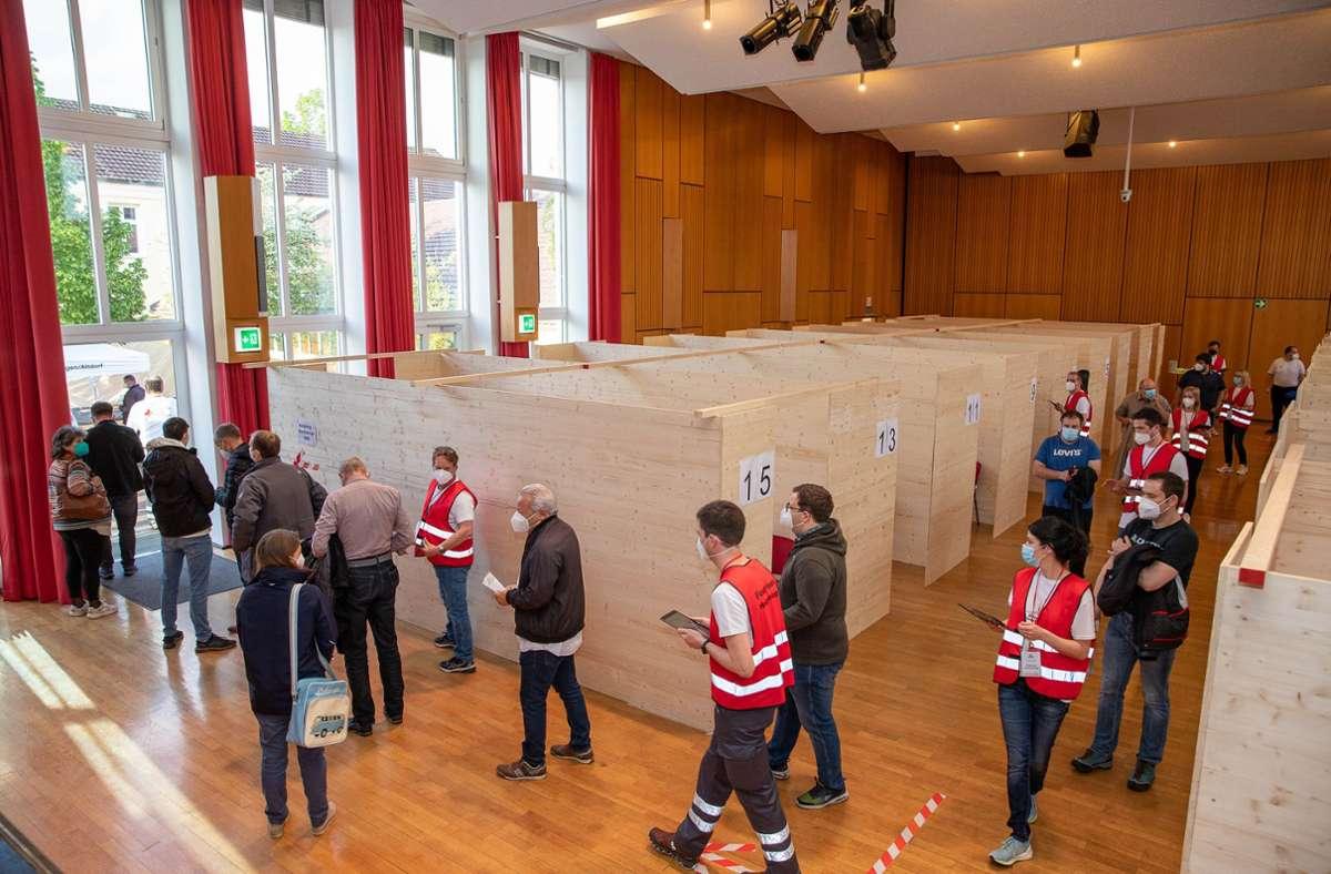 Am 17. Juli steht Holzgerlingen erneut im Zeichen der Impfkampagne Foto: Eibner/Drofitsch