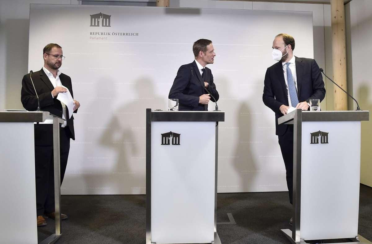 In Österreich haben sich die Oppositionsparteien auf einen neuen Untersuchungsausschuss zu den Korruptionsermittlungen gegen die regierende ÖVP geeinigt. Foto: dpa/Hans Punz