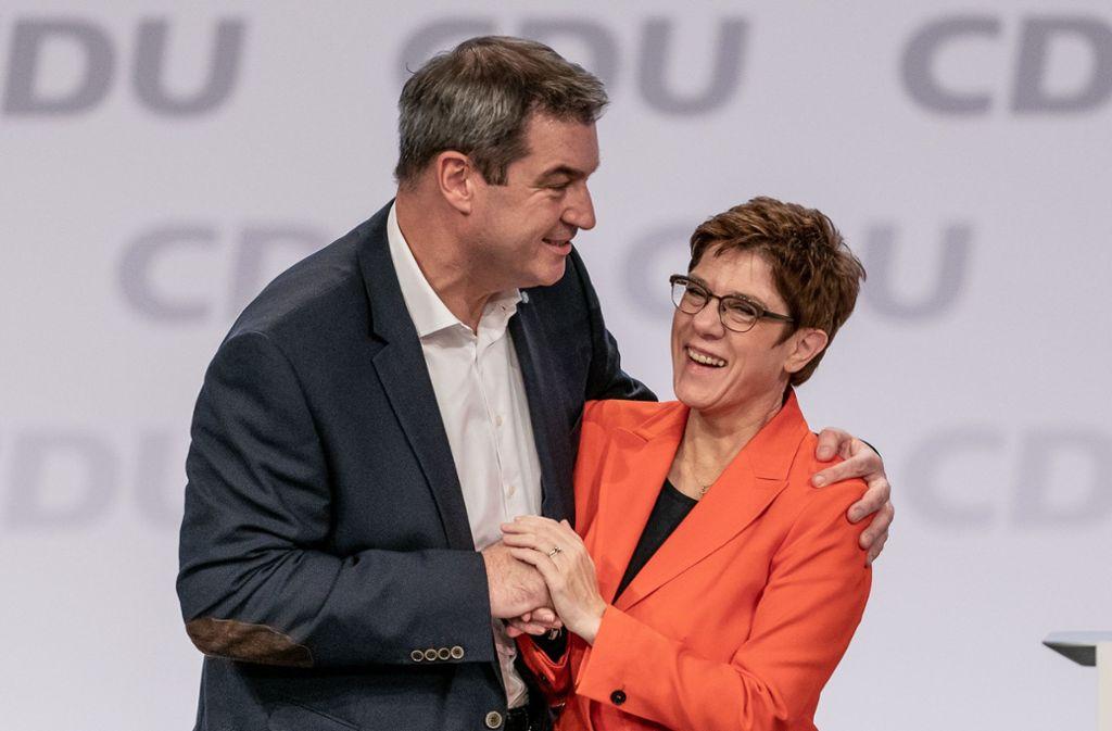 Markus Söder und Annegret Kramp-Karrenbauer scheinen sich besser zu verstehen als ihre Vorgänger. Foto: dpa/Michael Kappeler