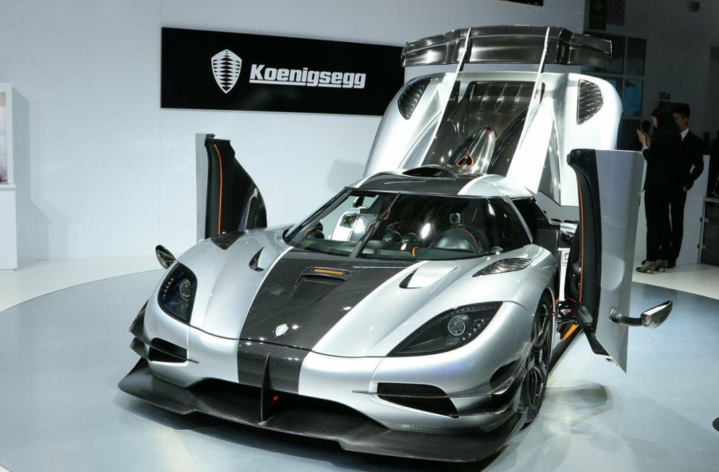 Das chinesische Unternehmen Evergrande hat sich an dem schwedischen Sportwagenhersteller Koenigsegg beteiligt. Foto: Imaginechina