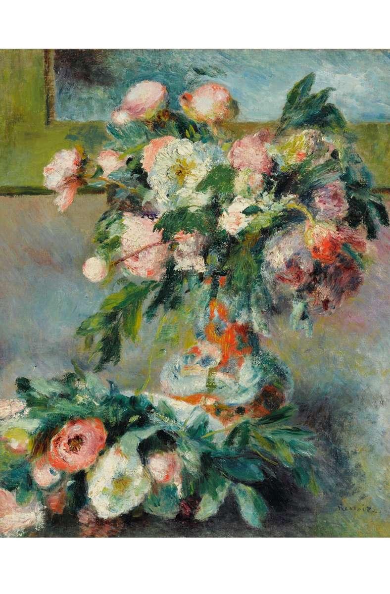 Augenkitzel Die Spuren des Pinselstrichs sind unübersehbar – und trotzdem sind die Päonien auf dem Gemälde von Pierre-Auguste Renoirs  deutlich zu erkennen.   Foto: Staatsgalerie Stuttgart