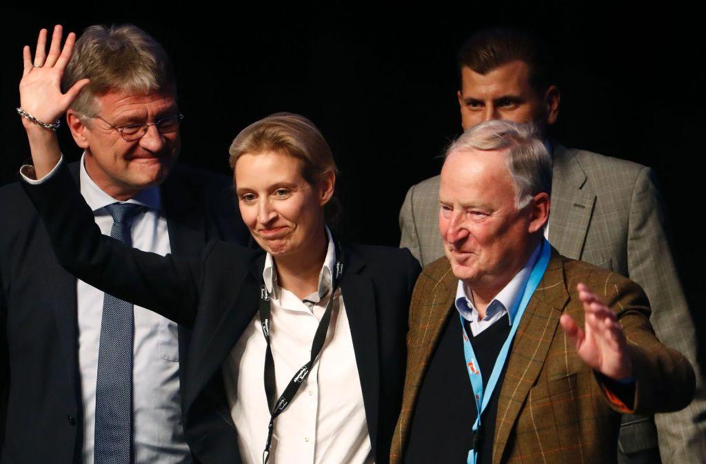 Die zwei AfD-Spitzenkandidaten für den Bundestagswahlampf: Alice Weidel und Alexander Gauland Foto: AFP