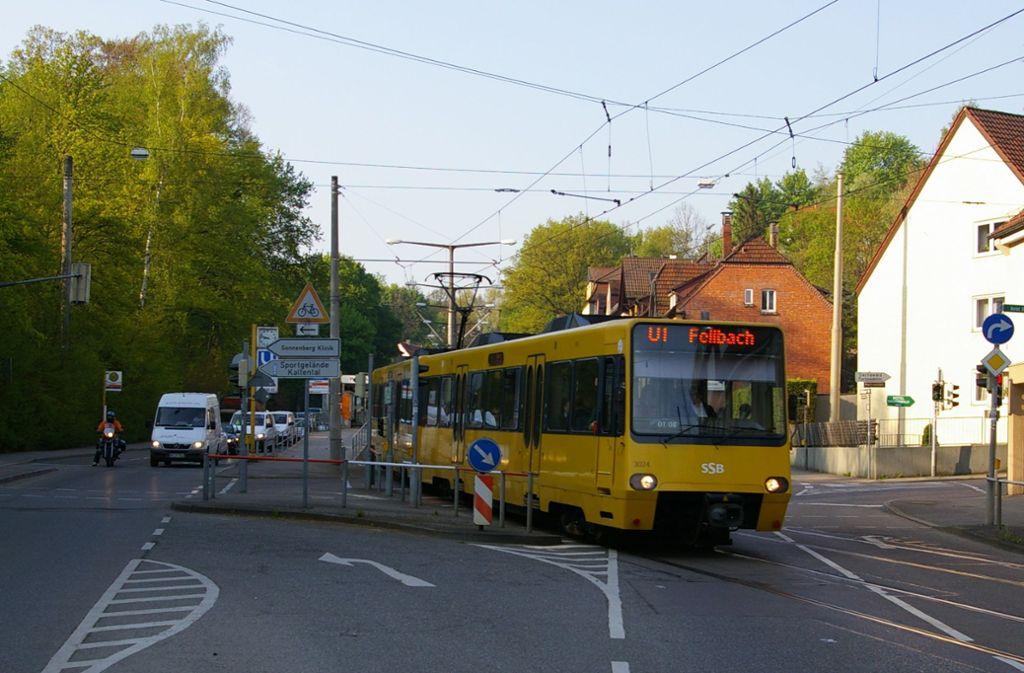 In Kaltental gibt es drei Stadtbahnhaltestellen. Doch oben auf den beiden Buckeln gibt es keinen ÖPNV-Anschluss. Foto: Archiv Alexandra Kratz