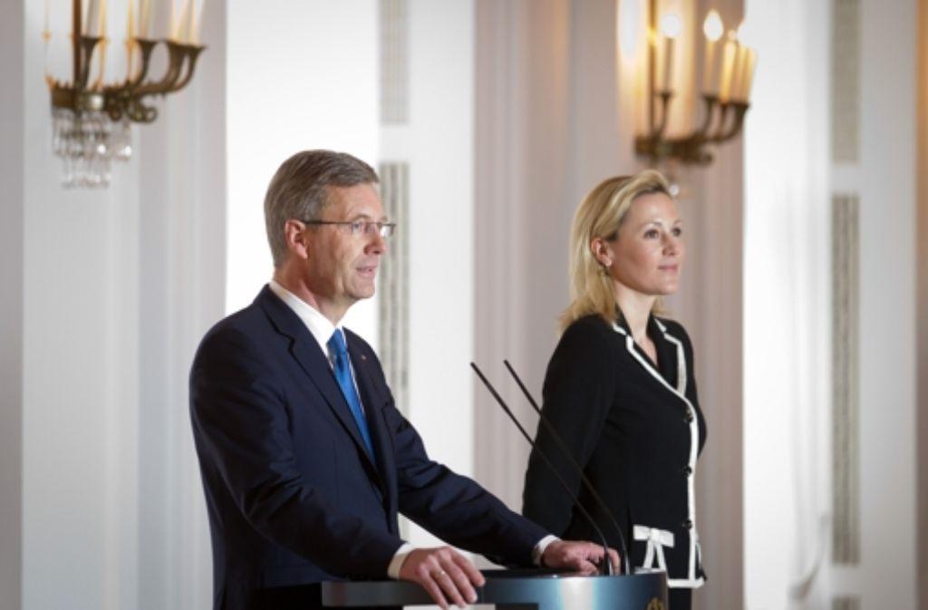 Bettina und Christian Wulff Foto: dpa