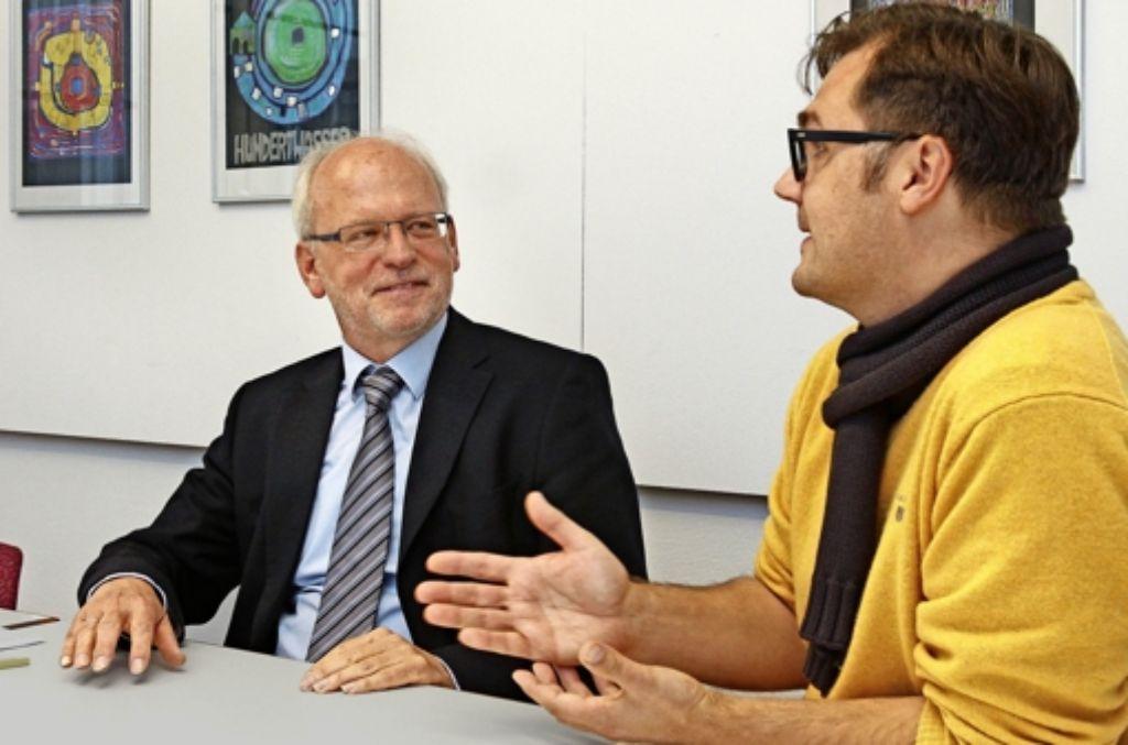 Winfried Speck (links) und Alexander König schauen trotz knapper Kassen Foto: factum/Granville