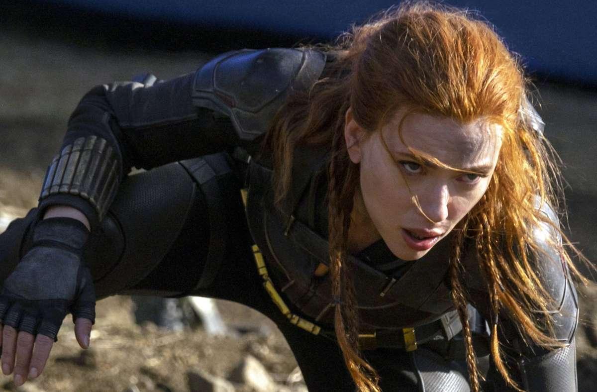 """Scarlett Johansson in """"Black Widow"""": Nun ist sie auch im echten Leben sauer. Foto: imago images/Jay Maidment"""