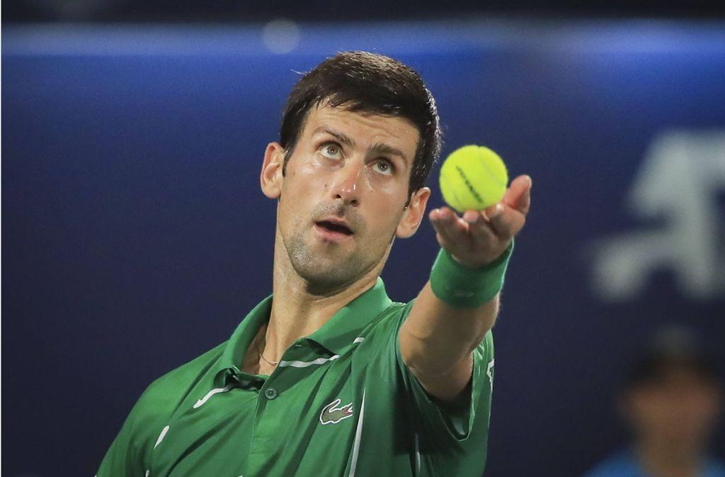 Novak Djokovic sorgt während der Corona-Krise für Irritationen. Foto: imago images/Jürgen Hasenkopf