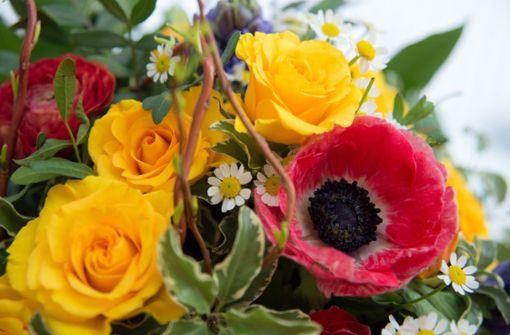 Kranführer belästigt Frau mit Blumenstrauß auf Balkon