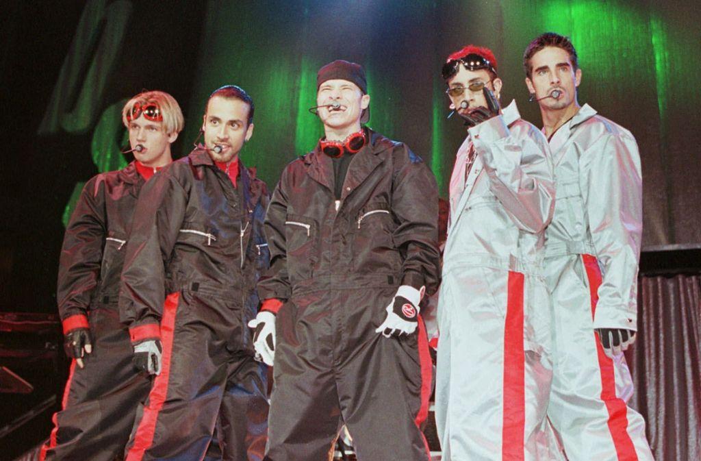 Die Boyband schlechthin: die Backstreet Boys. Mit mehr als 130 Millionen verkauften Platten sind sie die erfolgreichste Boyband überhaupt. Foto: AP