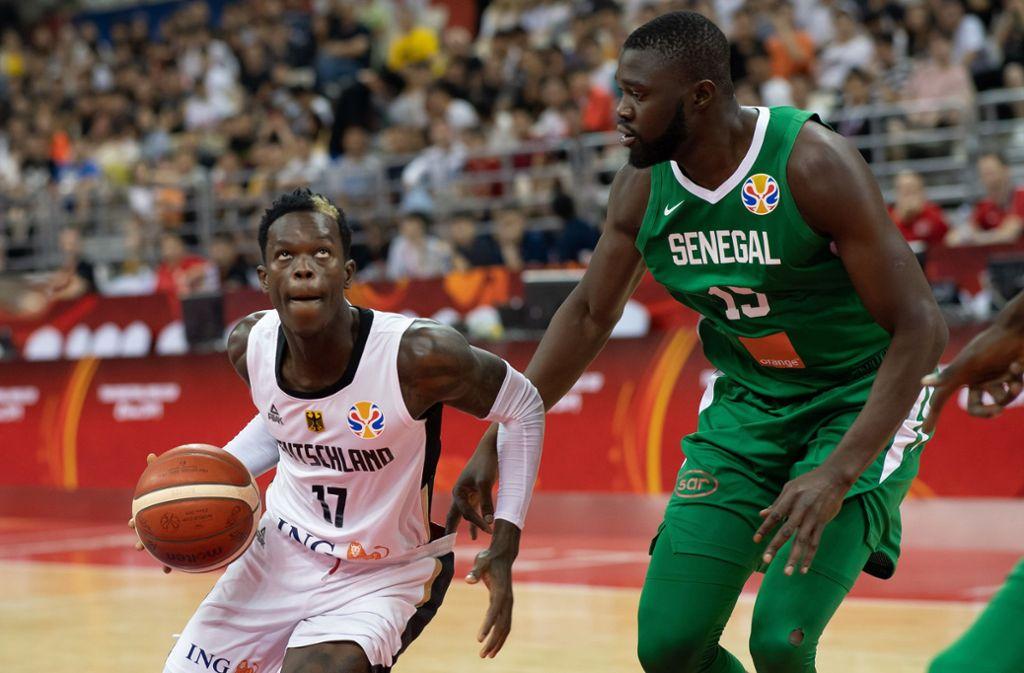 Die deutschen Basketballer haben eine Pleite gegen Senegal auf den letzten Metern abgewendet. Foto: dpa