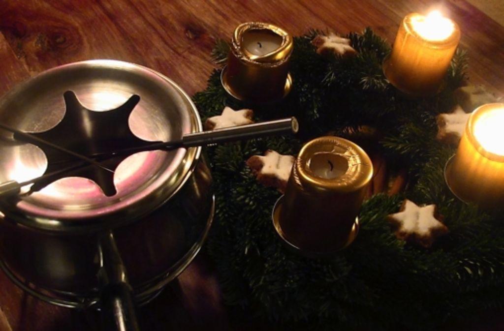 Mit vielen Spießen kann das Festessen schnell zum Mikado-Spiel werden. Foto: Käser