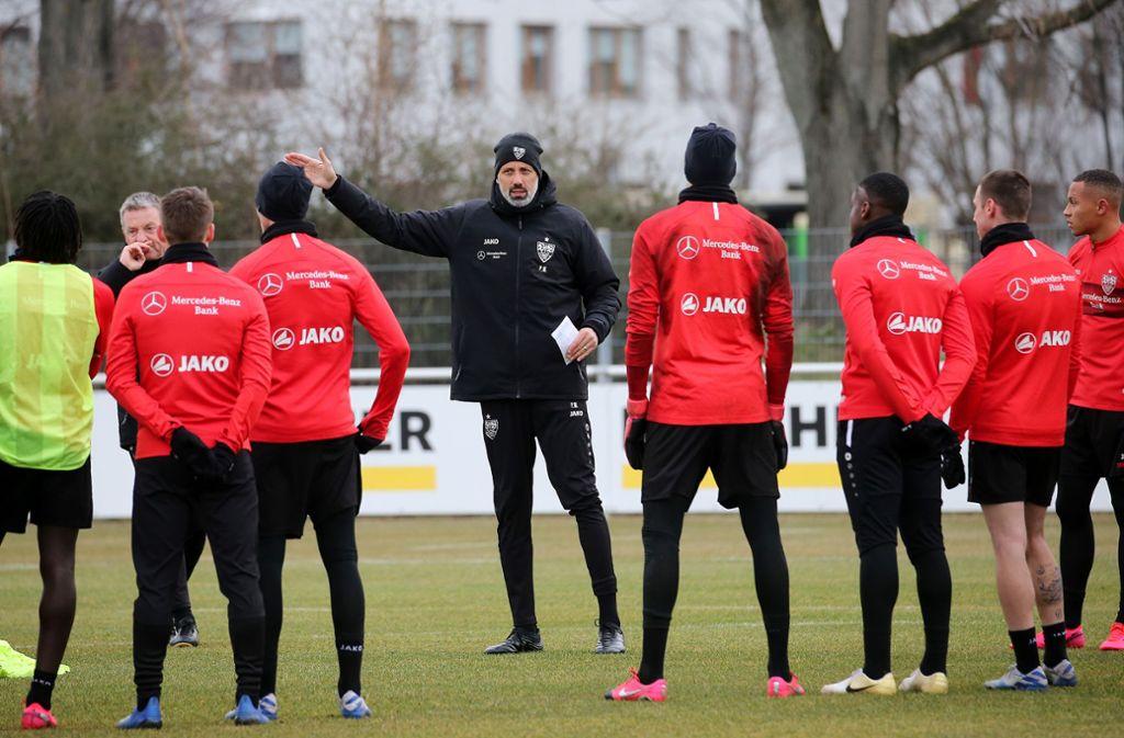 Langsam formiert sich unter VfB-Trainer Pellegrino Matarazzo ein festes Team. Foto: Baumann