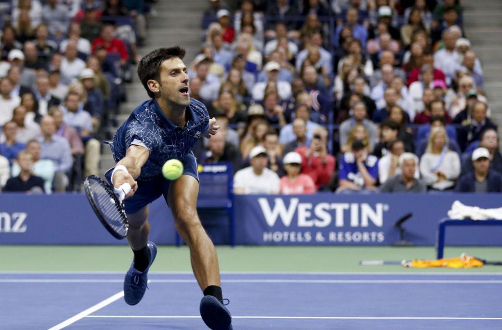 Novak Djokovic gewann im Finale der US-Open gegen den Argentinier Juan Martin del Potro. Foto: FR110666 AP