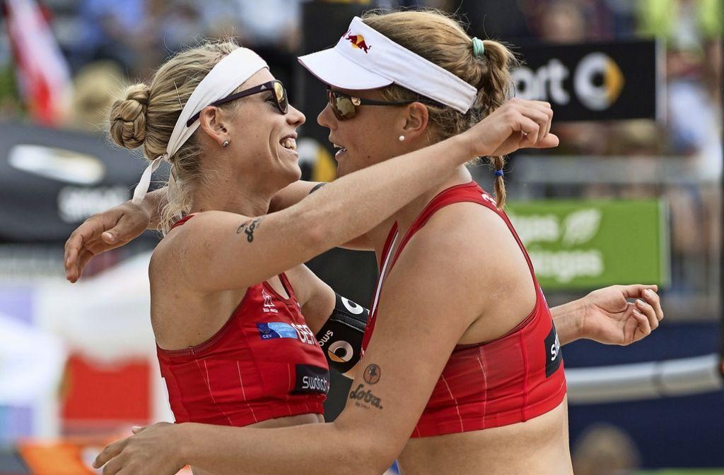 Karla Borger (links) braucht eine neue Partnerin, weil Britta Büthe aufhört. Foto: dpa