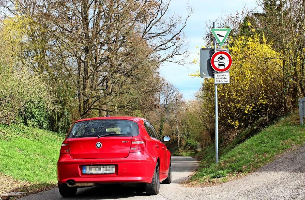 Viele nutzen den Hohlweg illegal, das ist nachgewiesen. Foto: Archiv Caroline Holowiecki