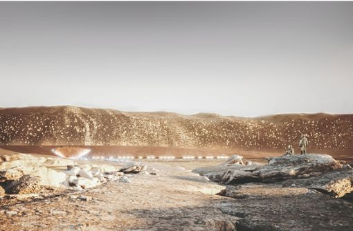 So könnte  Leben auf dem Mars aussehen