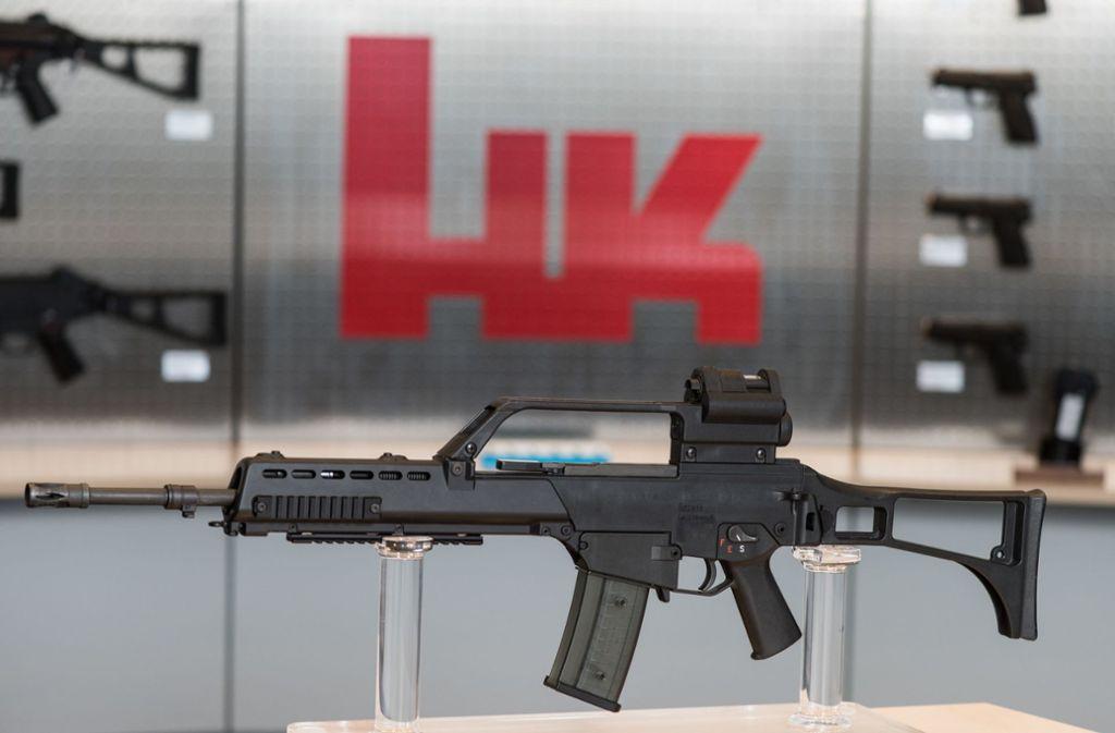 Das G36 von Heckler & Koch ist das Standardgewehr der Bundeswehr. Foto: dpa/Patrick Seeger