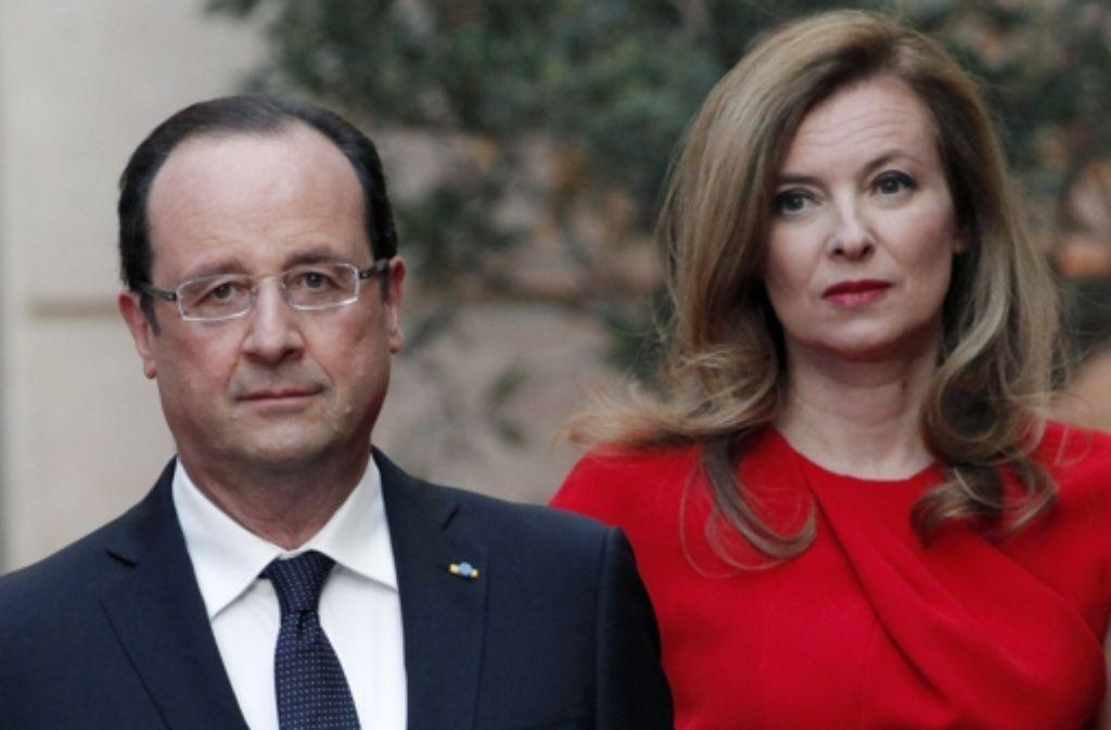 Seit Jahren ist Valérie Trierweiler die Lebensgefährtin  von Präsident Hollande. Foto: AP