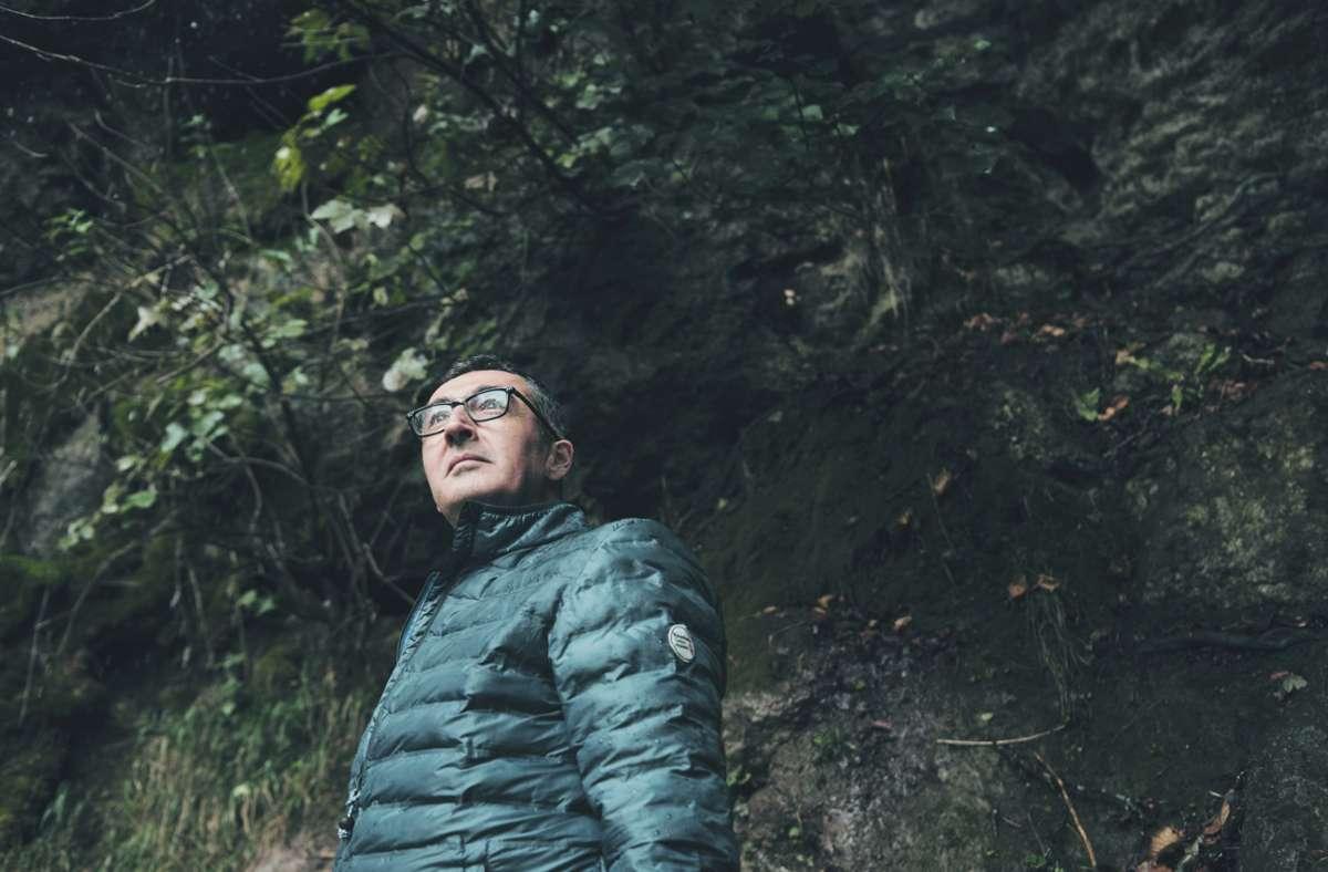 Bad Uracher Wasserfall-Romantik: Heimspiel für Cem Özdemir. Foto: StZ Magazin/Dirk Bruniecki