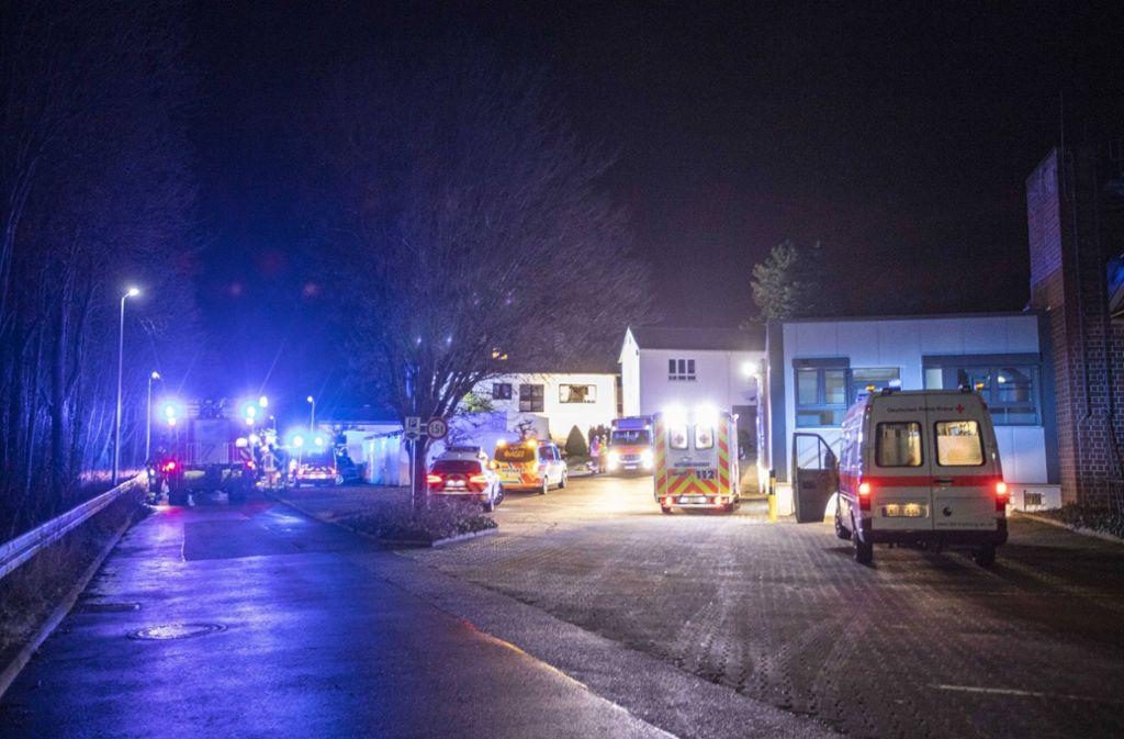 Die Feuerwehr war mit rund 45 Einsatzkräften vor Ort. Foto: 7aktuell.de/Simon Adomat