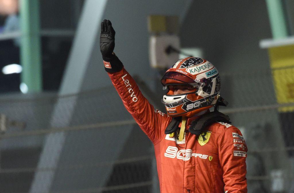 Charles Leclerc ist der Mann der Stunde in der Formel 1. Foto: AFP/ROSLAN RAHMAN