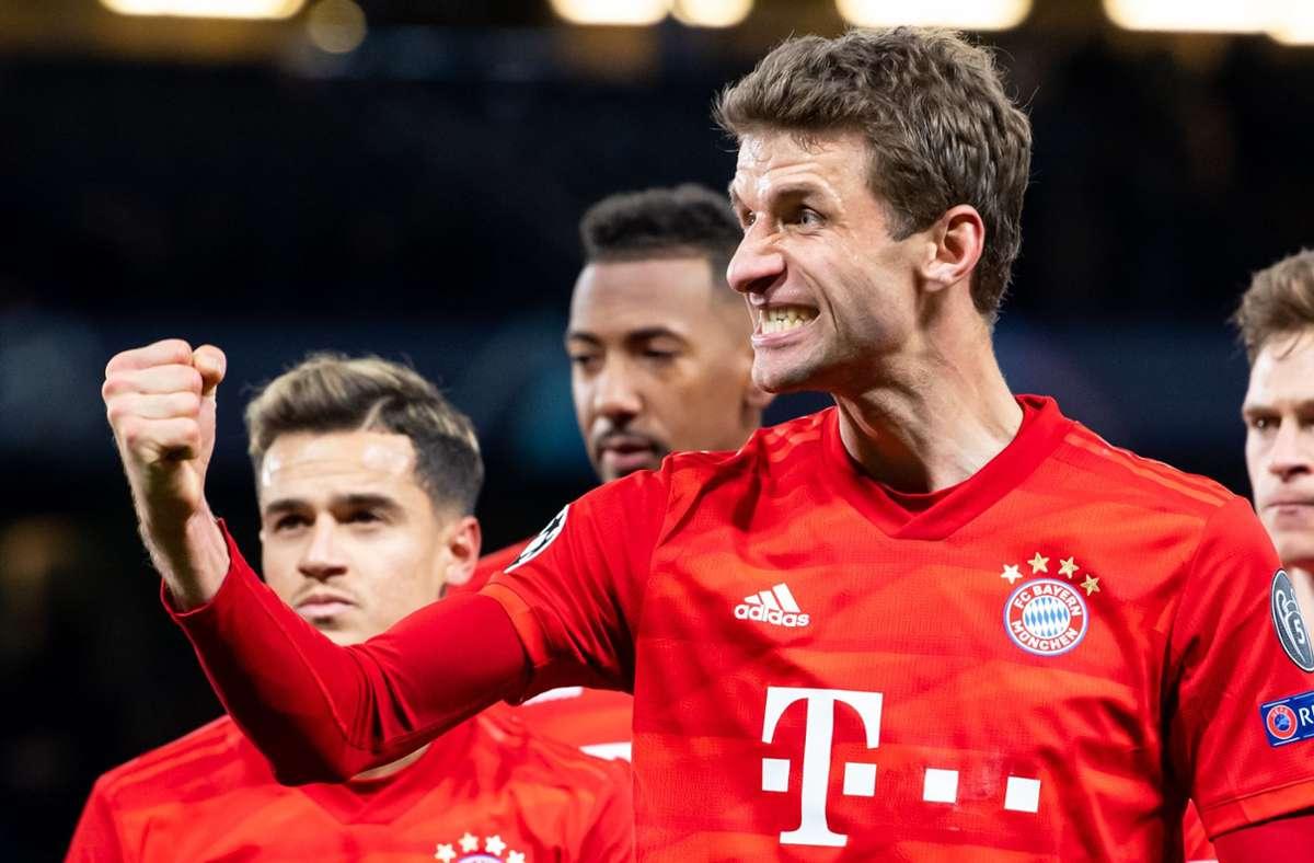 Die Champions-League-Spiele des FC Bayern gibt es bei Sky zu sehen. Foto: dpa/Sven Hoppe