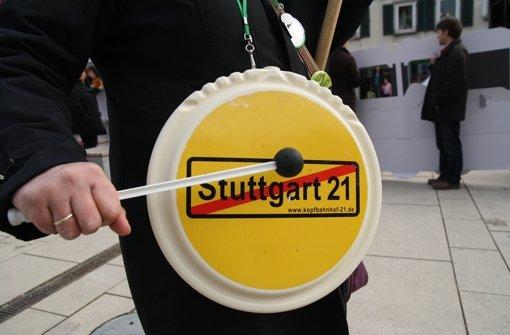 Protest gegen S 21 mit