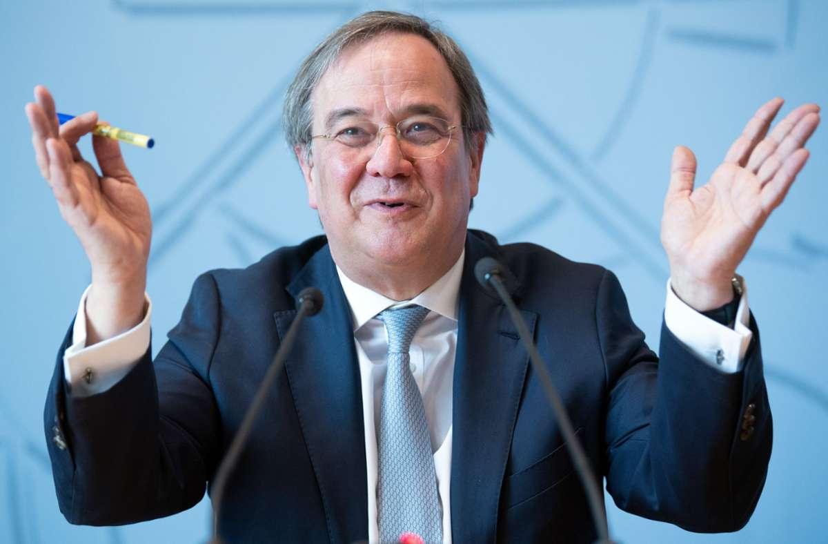 31 von 46 stimmberechtigten Vorstandsmitgliedern stimmten für den CDU-Vorsitzenden Armin Laschet. Foto: dpa/Federico Gambarini