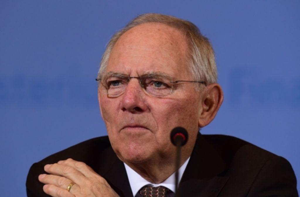 Der CDU-Politiker Wolfgang Schäuble spricht  über die Mühsal der Politik, die enormen Herausforderungen zu meistern. Foto: AFP