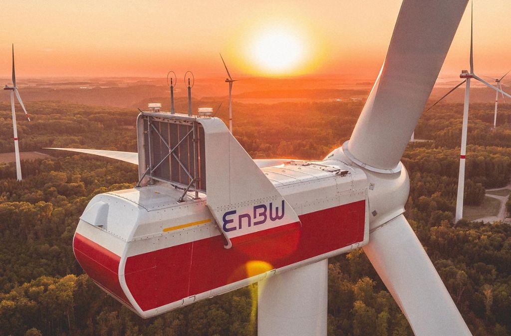 Einer der Windparks, an denen Anrainer sich beteiligen können, steht in Langenburg im Landkreis Schwäbisch-Hall. Foto: EnBW