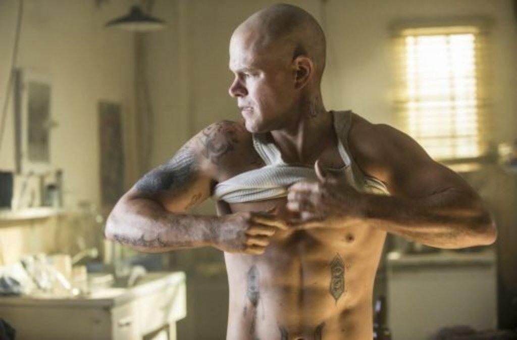 Ab dem 15.August 2013 wird Matt Damon auch in den deutschen Kinos als muskelbepackter Actionheld zu sehen sein. Foto: Sony Pictures