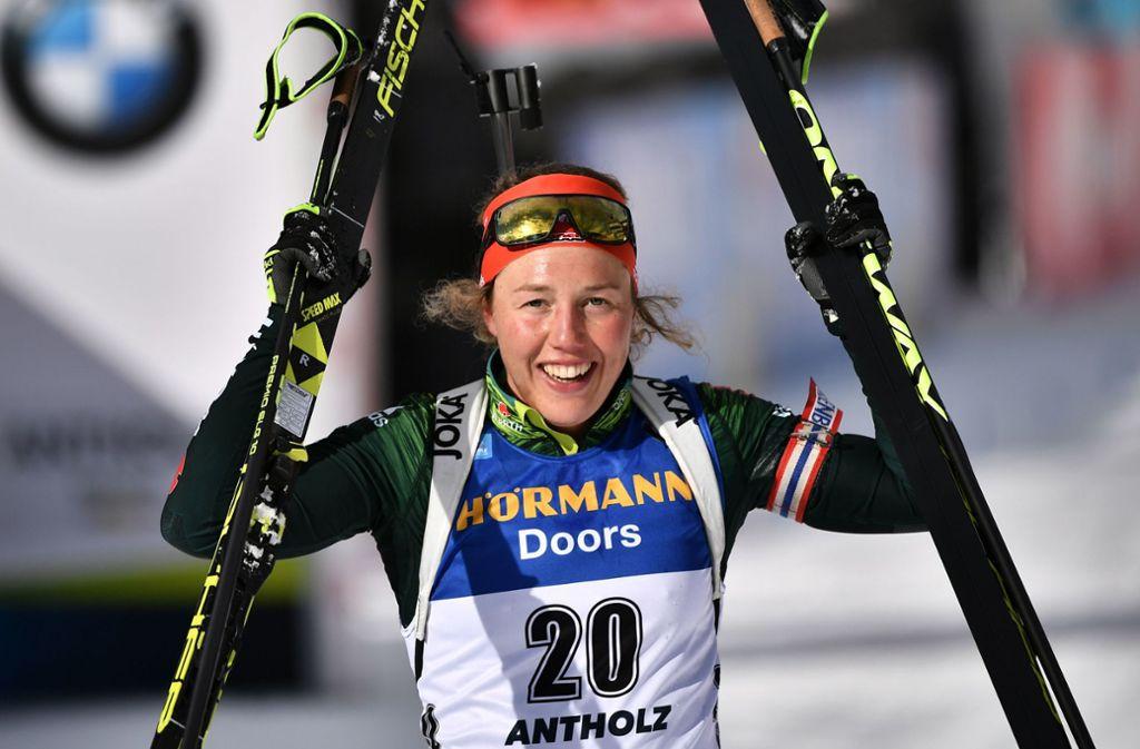 Biathletin Laura Dahlmeier beendet ihre Karriere – mit nur 25 Jahren. Foto: AFP