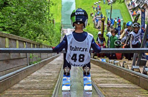 Wintersportler mit Hochsaison im Sommer