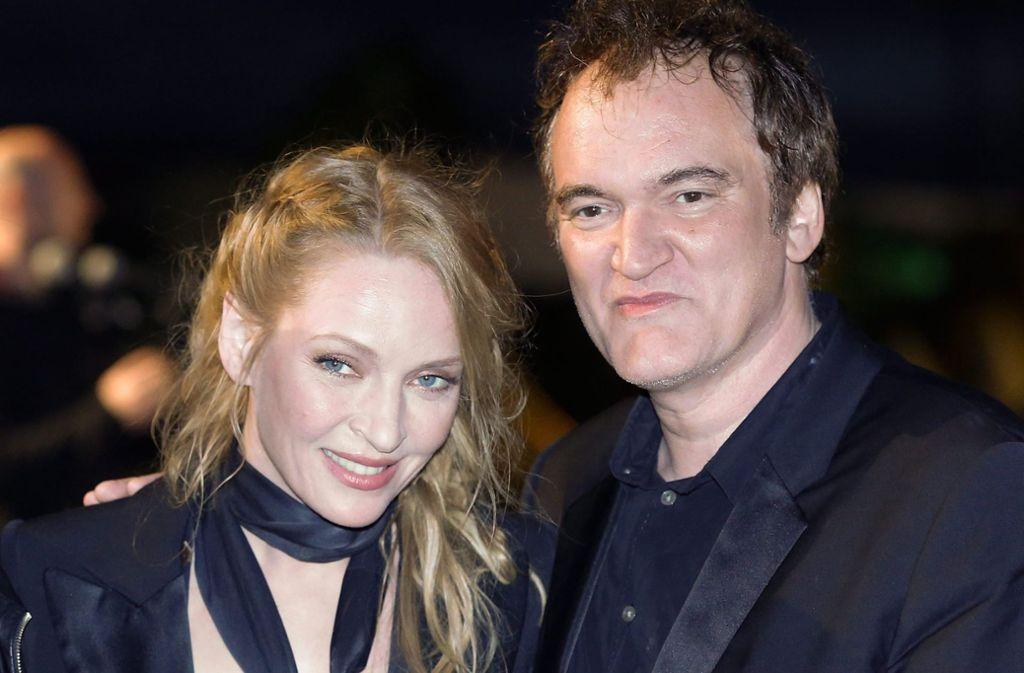 Quentin Tarantino mit seiner Hauptdarstellerin Uma Thurman. Foto: EPA