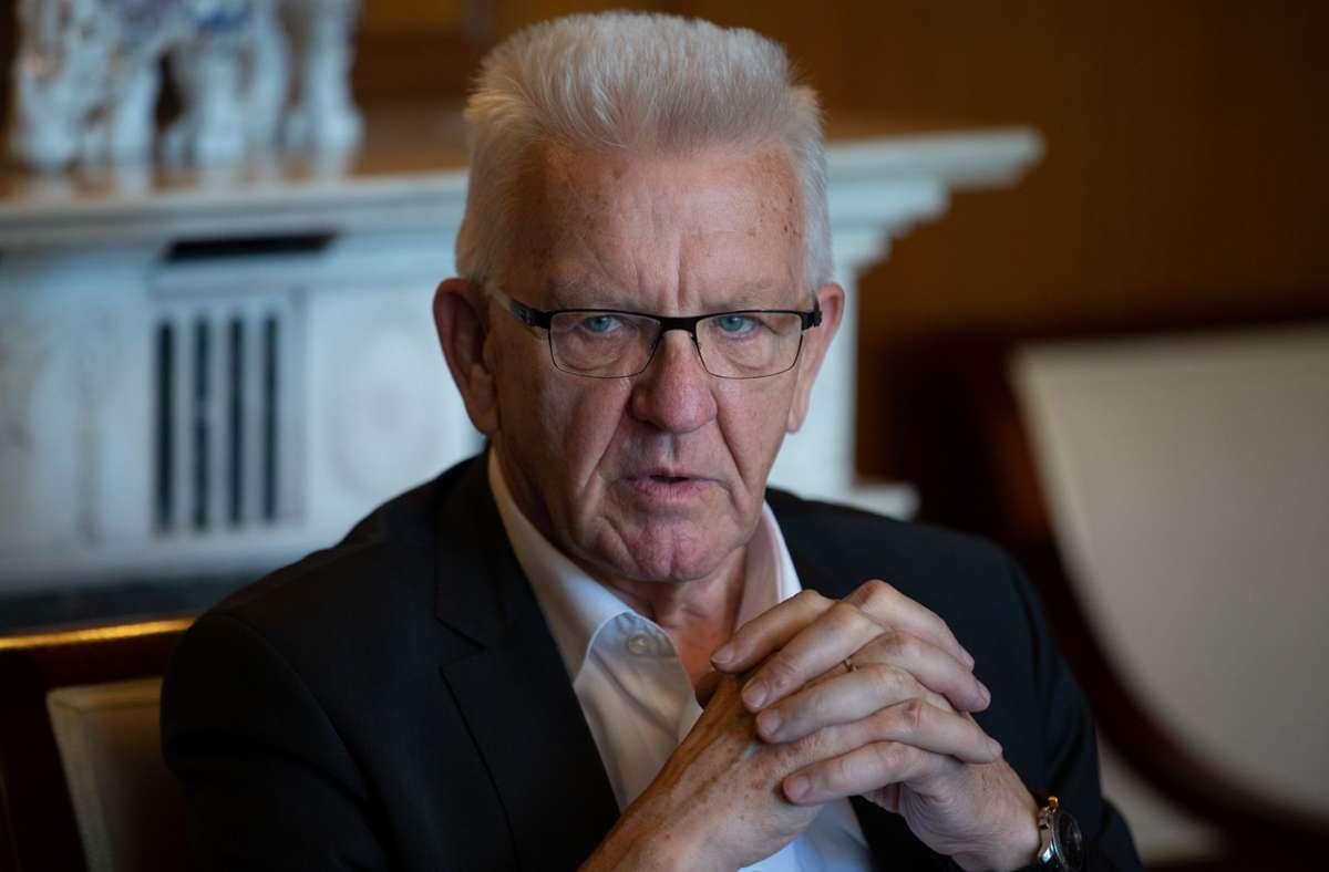 Ministerpräsident Winfried Kretschmann (Grüne) Foto: LICHTGUT/Leif Piechowski/Leif Piechowski