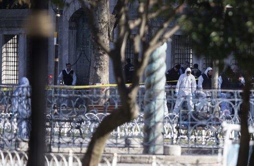 Istanbul ist am Morgen von einer Explosion erschüttert worden. Zehn Menschen haben ihr Leben verloren. Foto: dpa