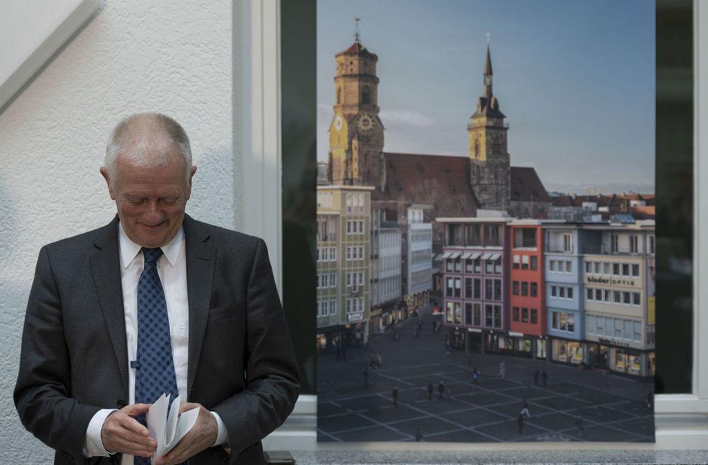OB Fritz Kuhn tritt nicht mehr zur OB-Wahl im November an. Foto: Lichtgut/Leif Piechowski
