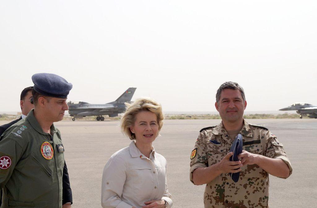 Bundesverteidigungsministerin Ursula von der Leyen bei ihrem Besuch in Jordanien. Foto: Bundeswehr