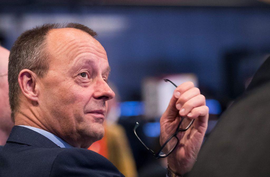Friedrich Merz spricht über den Fall eines Koalitionsbruchs. Foto: AFP/ODD ANDERSEN