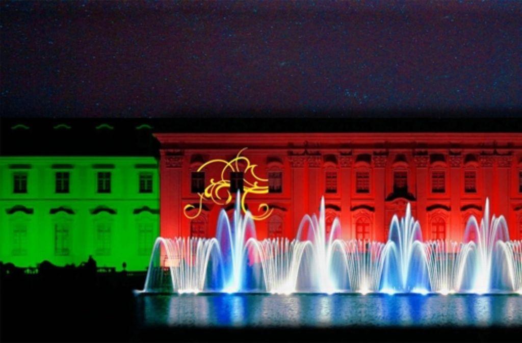 Die Lasershow ist der Höhepunkt des Festes. Foto: Staatliche Schlösser und Gärten